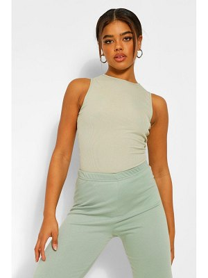 Boohoo Ribbed Racer Front Body