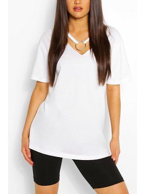Boohoo Ring Detail Cut Out Shape T-Shirt