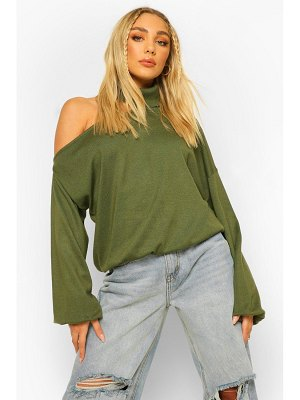 Boohoo Turtleneck Cut Out Detail Sweater