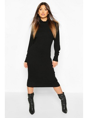 Boohoo Roll Neck Knitted Midi Dress