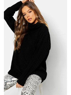 Boohoo Roll Neck Rib Knit Jumper