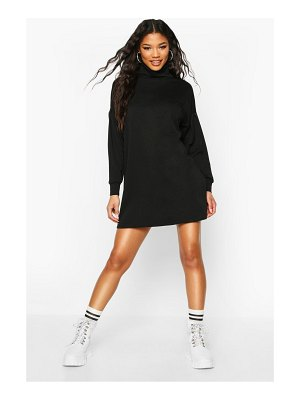 Boohoo Roll Neck Slouchy Sweatshirt Dress