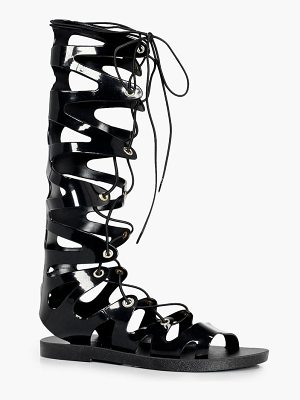 Boohoo Rosie Ghillie Jelly Gladiator Knee High Sandal
