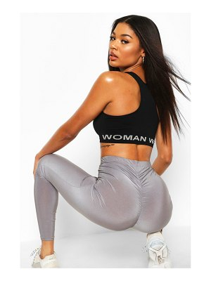 Boohoo Ruched Bum Booty Boosting Workout Leggings