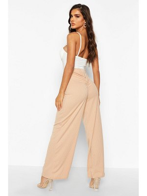 Boohoo Ruched Bum Ribbed Wide Leg pants
