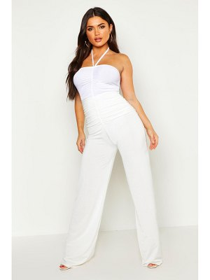 Boohoo Ruched Front Wide Leg Pants