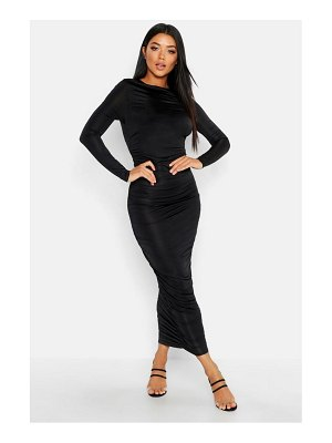 Boohoo Ruched Side Midi Dress