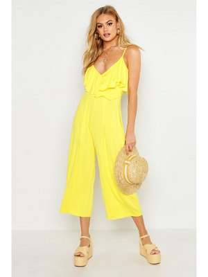 Boohoo Ruffle Strappy Culotte Jumpsuit