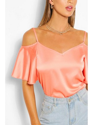 Boohoo Satin Cold Shoulder Cami