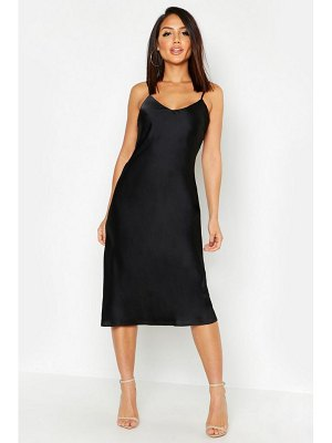 Boohoo Satin Midi Slip Dress