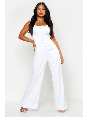 Boohoo Satin Ring Detail Cowl Front Jumpsuit