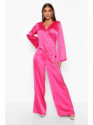 Boohoo Satin Wide Leg Trouser