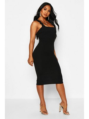 Boohoo Scallop Strap Midi Dress