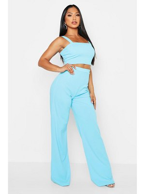 Boohoo Scuba Crepe Crop + Trouser Co-Ord