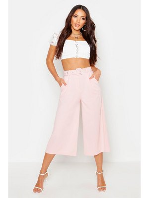 Boohoo Self Belt Wide Leg Culotte