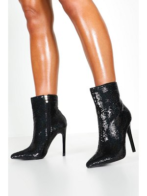 Boohoo Sequin Pointed Shoe Boots