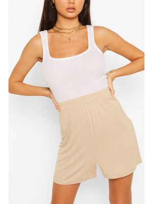 Boohoo Shirred Waist Basic Jersey Flippy Shorts