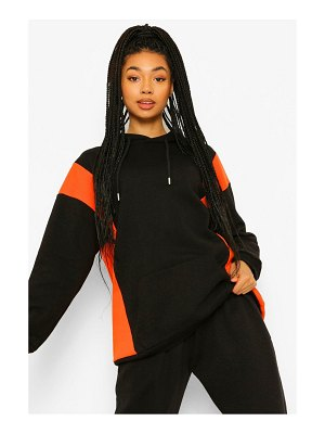 Boohoo Side Colour Block Oversized Hoodie