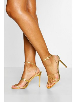 Boohoo Skinny Super Strappy Stiletto Heels