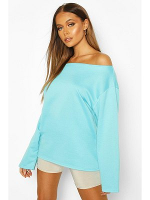 Boohoo Slash Neck Oversized Sweat