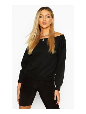 Boohoo Slash Neck Sweat