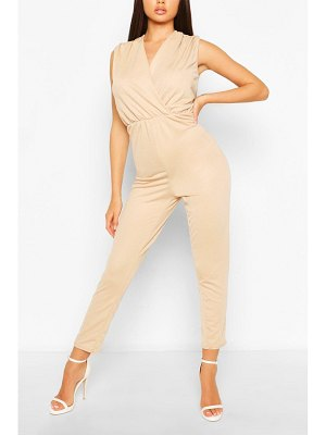 Boohoo Sleeveless Tailored Jumpsuit