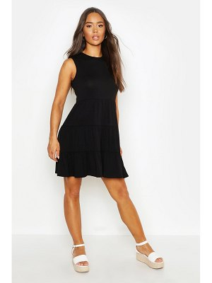 Boohoo Sleeveless Tiered Smock Dress