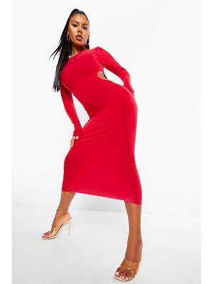 Boohoo Slinky Cutout Midaxi Dress