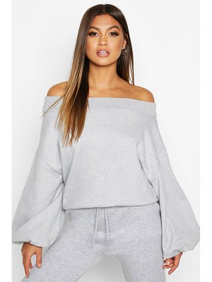Boohoo Slouch Oversized Slash Neck Sweat
