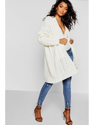 Boohoo Oversized Slouchy Cable Knit Cardigan