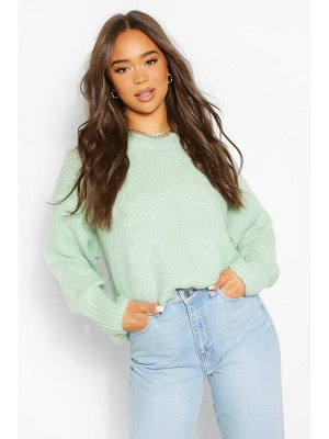 Boohoo Slouchy Oversize Crop Sweater