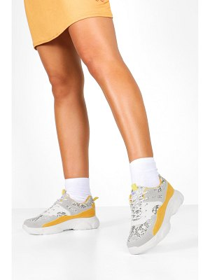 Boohoo Snake Colour Block Chunky Sole Sneakers