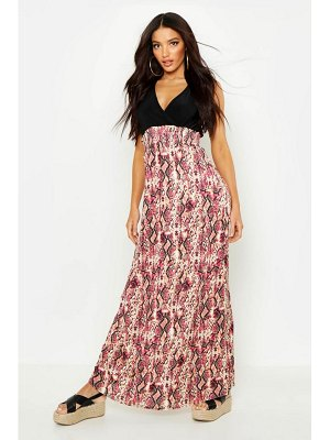 Boohoo Snake Print Maxi Dress