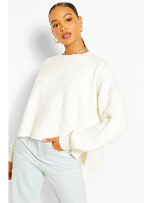 Boohoo Soft Knit Cable Sweater