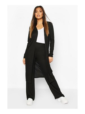 Boohoo Soft Rib Cardigan & Trouser Co-Ord