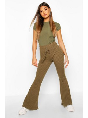 Boohoo Soft Ribbed Flare Trouser