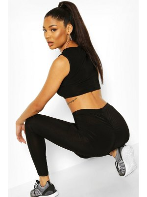 Boohoo Soft Touch Ruched Bum Booty Boost Workout Legging