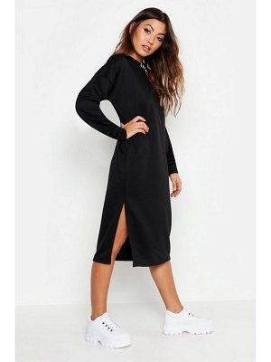Boohoo Split Midi Sweat Dress
