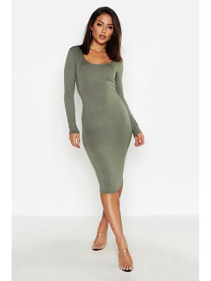 Boohoo Square Neck Long Sleeved Bodycon Dress