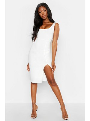 Boohoo Square Neck Midi Dress