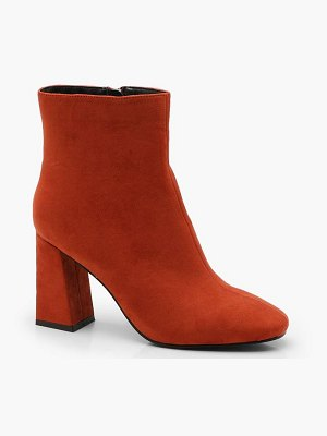 Boohoo Square Toe Ankle Boots