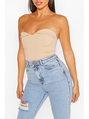 Boohoo Strapless Cup Detail One Piece