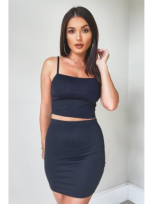 Boohoo Strappy Crop & Mini Skirt Co-Ord Set