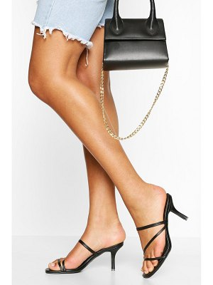 Boohoo Strappy Low Heel Mules