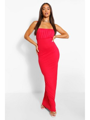 Boohoo Strappy Rouched Bust Maxi Dress