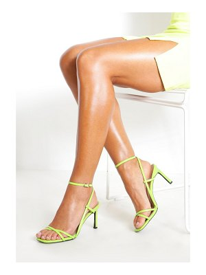 Boohoo Strappy Square Toe Heeled Sandals