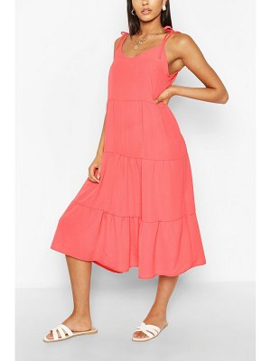 Boohoo Strappy Tiered Midaxi Dress