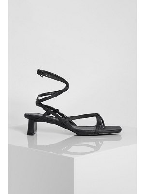 Boohoo Strappy Toe Thong Low Heel Sandals