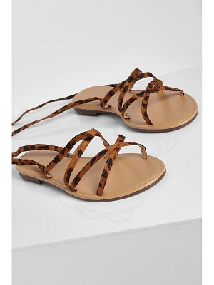 Boohoo Strappy Wrap Up Sandal