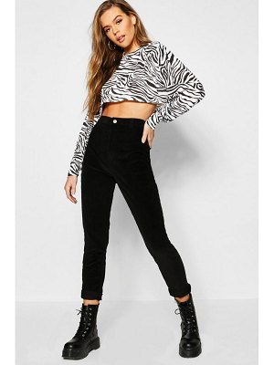 Boohoo Stretch Baby Cord Disco Jeans